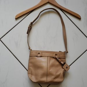 Etienne Aigner 💜 Leather Shoulder Bag Purse Tan